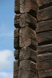 Vieux détail en bois de maison photo stock