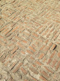 Vieux détail médiéval de modèle de trottoir de brique Photos libres de droits
