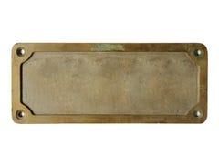 Vieux de plaque métallique Photo libre de droits