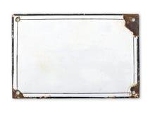 Vieux de plaque métallique Photos libres de droits