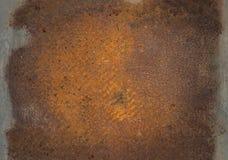 Vieux de plaque métallique rouillé Image stock