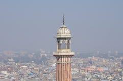 Vieux Delhi et minaret de Jama Masjid Photographie stock libre de droits