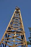 Vieux derreck de pétrole dans Kilgore le Texas Image libre de droits