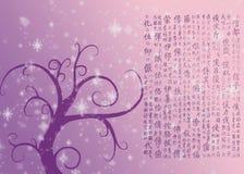 Vieux descripteur du Japon de fond illustration stock