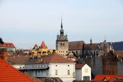 vieux dessus de toit de ville Image libre de droits