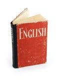 Vieux dictionnaire anglais Photographie stock libre de droits