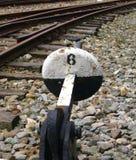 Vieux dispositif ferroviaire de commutation Photos libres de droits