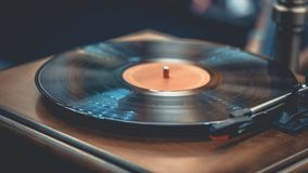 Vieux disque noir classique de vinyle illustration libre de droits