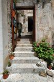 Vieux district Croatie Image stock