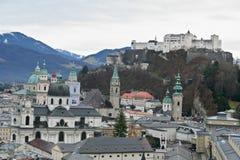 Vieux district de Salzbourg photographie stock libre de droits
