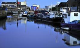 Vieux docks à Londres Photographie stock