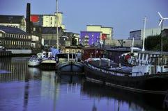 Vieux docks à Londres Images libres de droits