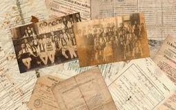 Vieux documents Images stock