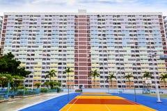 Vieux domaine résidentiel public en Hong Kong images libres de droits