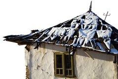 Vieux dommages de maison images libres de droits
