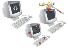 vieux drôle d'ordinateur Images stock