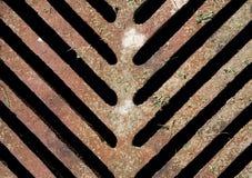 Vieux drain rusrty de trou d'homme d'égout, texture Photo libre de droits