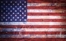 Vieux drapeau américain grunge de vintage Photos libres de droits