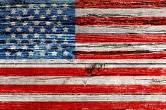 Vieux drapeau américain peint photo stock