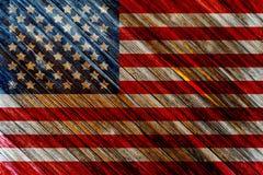 Vieux drapeau américain peint illustration de vecteur