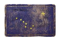 Vieux drapeau d'état de l'Alaska Images stock
