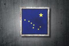 Vieux drapeau d'état de l'Alaska illustration de vecteur