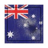 Vieux drapeau d'Australie illustration stock