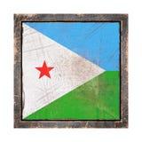 Vieux drapeau de Djibouti Image stock