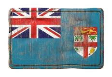 Vieux drapeau de Fidji Image stock