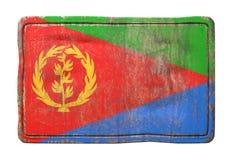 Vieux drapeau de l'Érythrée Photographie stock libre de droits
