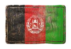 Vieux drapeau de l'Afghanistan Image libre de droits