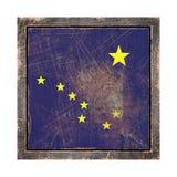 Vieux drapeau de l'Alaska Images libres de droits