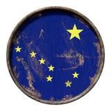 Vieux drapeau de l'Alaska Photos stock