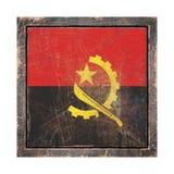 Vieux drapeau de l'Angola Image libre de droits