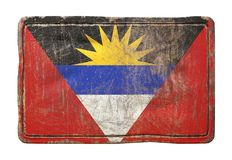 Vieux drapeau de l'Antigua-et-Barbuda Photo stock