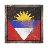 Vieux drapeau de l'Antigua-et-Barbuda Photos libres de droits