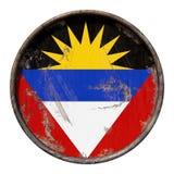 Vieux drapeau de l'Antigua-et-Barbuda Images libres de droits