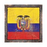 Vieux drapeau de l'Equateur Photos libres de droits