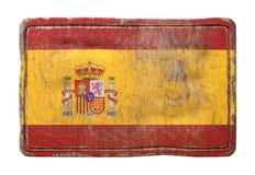 Vieux drapeau de l'Espagne Photos stock