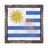 Vieux drapeau de l'Uruguay Image libre de droits