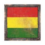 Vieux drapeau de la Bolivie Photo stock