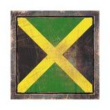 Vieux drapeau de la Jamaïque Photos stock