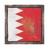 Vieux drapeau du Bahrain Images stock