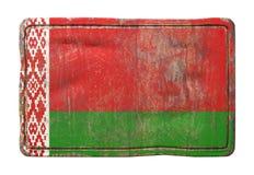 Vieux drapeau du Belarus Image libre de droits