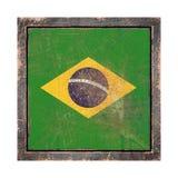 Vieux drapeau du Brésil Image stock
