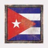 Vieux drapeau du Cuba Image libre de droits