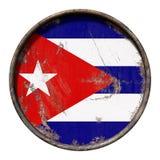 Vieux drapeau du Cuba illustration stock