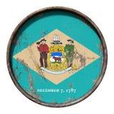 Vieux drapeau du Delaware Photo libre de droits