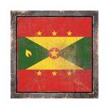 Vieux drapeau du Grenada Photos libres de droits