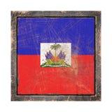 Vieux drapeau du Haïti Photos libres de droits